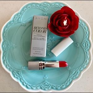 "3 Avon Beyond Color Red Lipstick SPF15""Power Trip"""